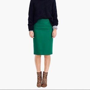 J.Crew Double Serge Wool No.2 Pencil Skirt